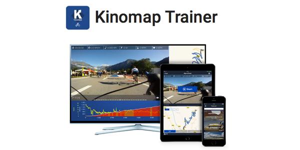 Kinomap trainer, entrainement sur home-trainer