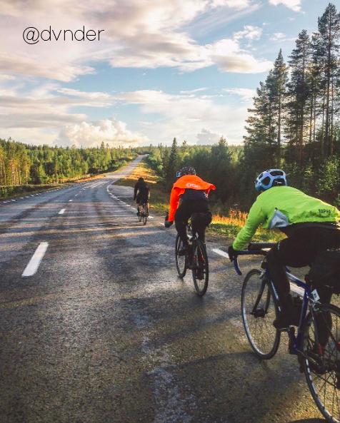 Cyclistes en hiver