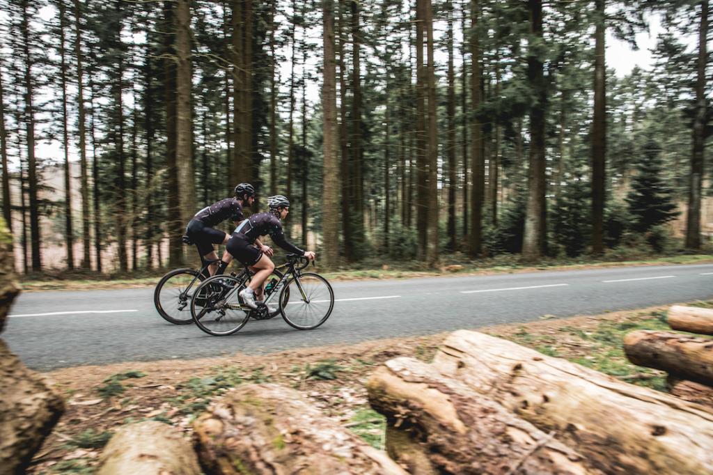entrainement cycliste après chute