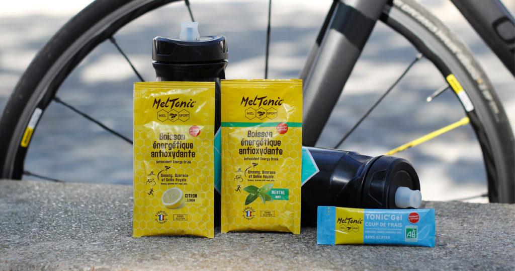 Boissons et gel energetique cyclisme