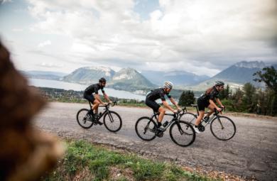 sortie cycliste en groupe