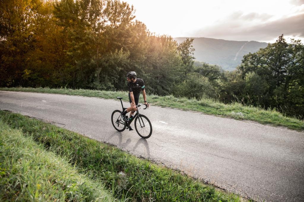 cycliste col de Leschaux