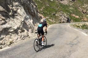 cycliste col du Galibier