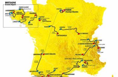 Carte du Tour de France 2021