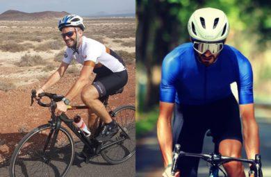 Cyclistes du peloton Pédaleur