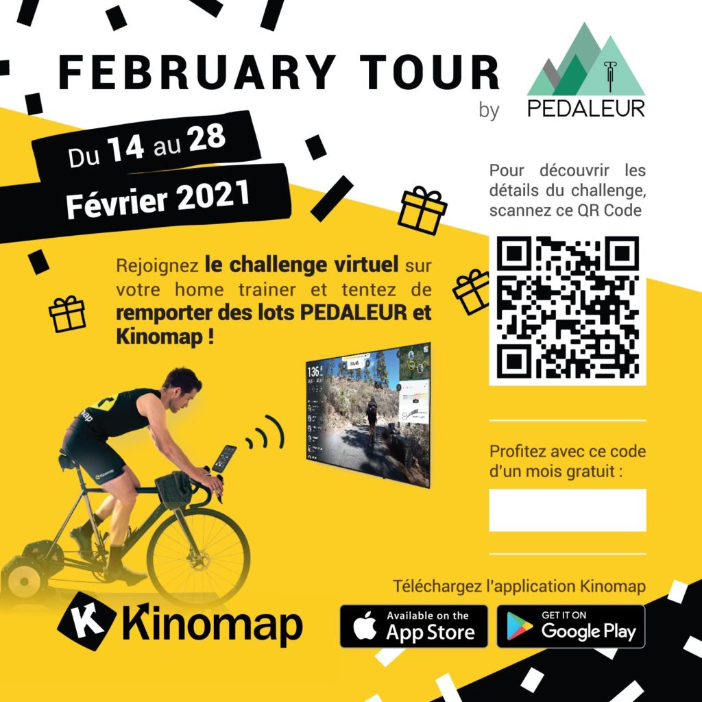 Application cyclisme virtuel Kinomap
