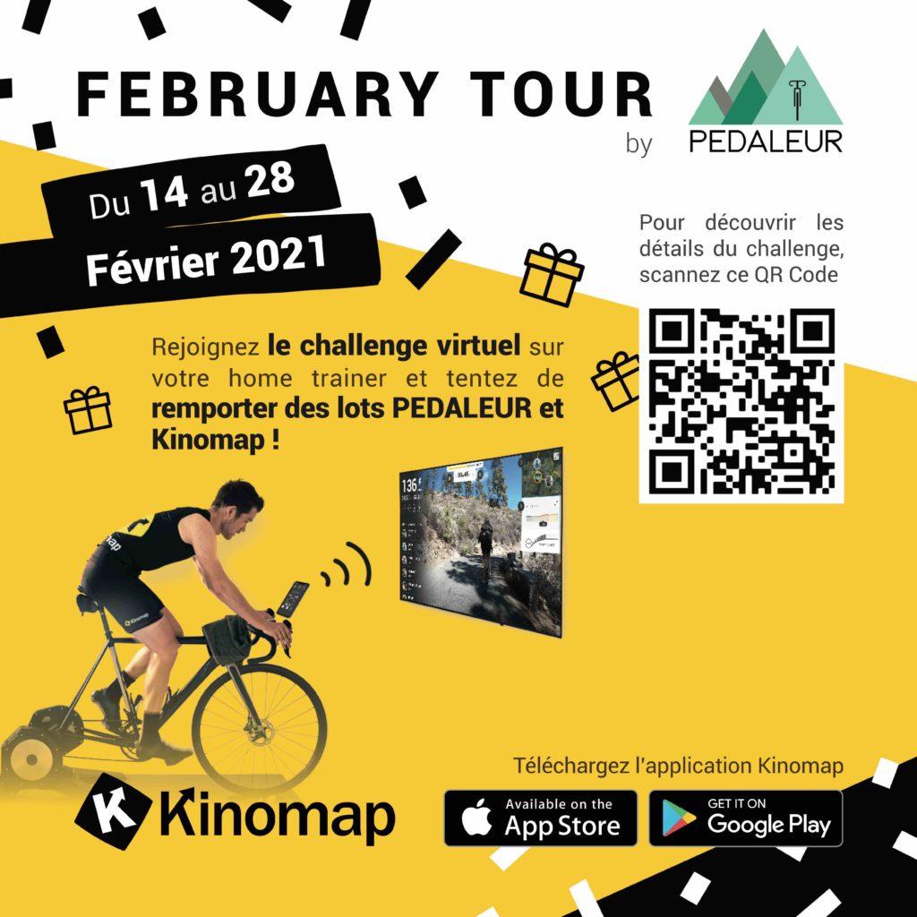 Challenge de cyclisme virtuel Pédaleur Kinomap