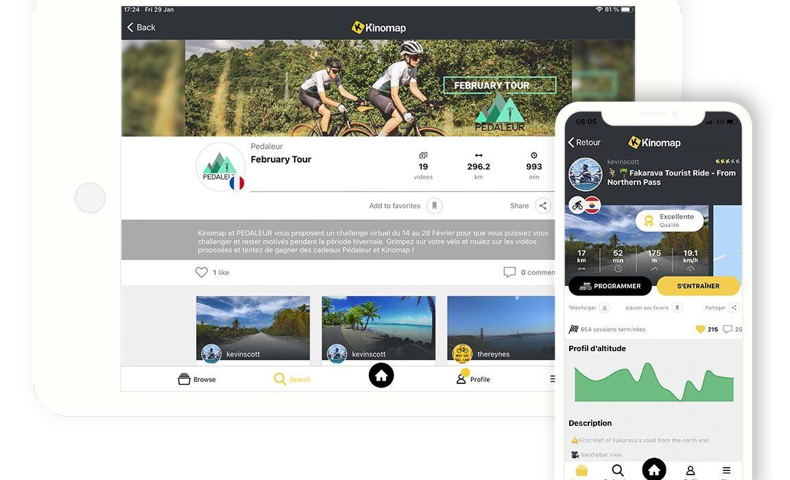 Application d'entraînement indoor pour cyclistes