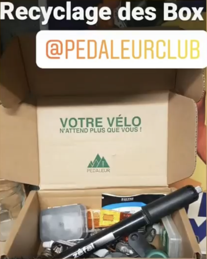 Recycler sa box Pédaleur