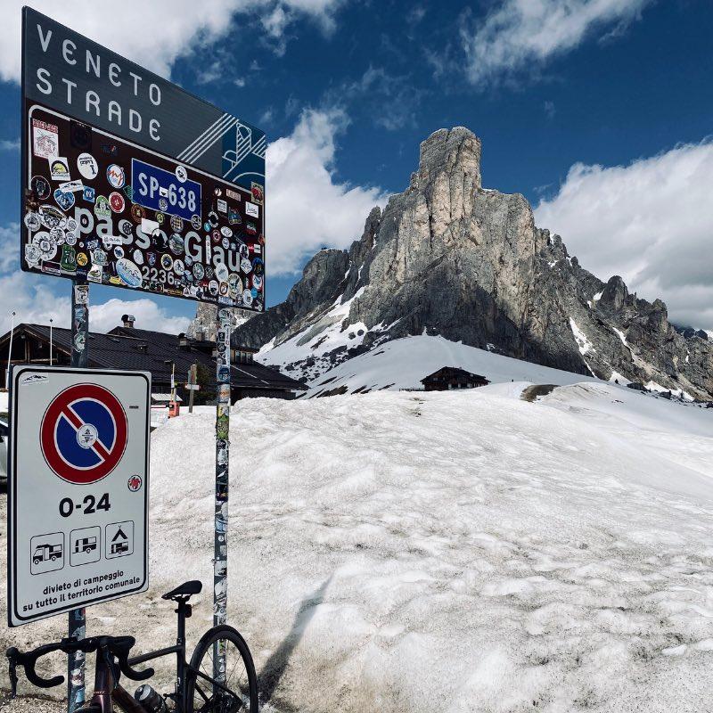 Col cycliste Passo Giau Dolomites