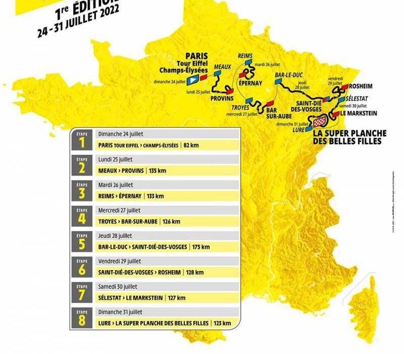 Parcours du Tour de France Féminin 2022